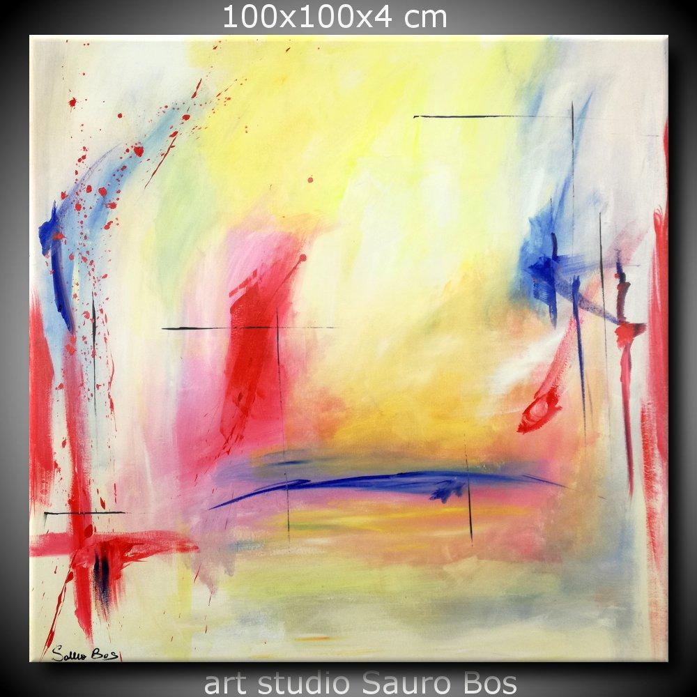 exist quadri astratti sauro bos - quadro astratto quadrato 100x100