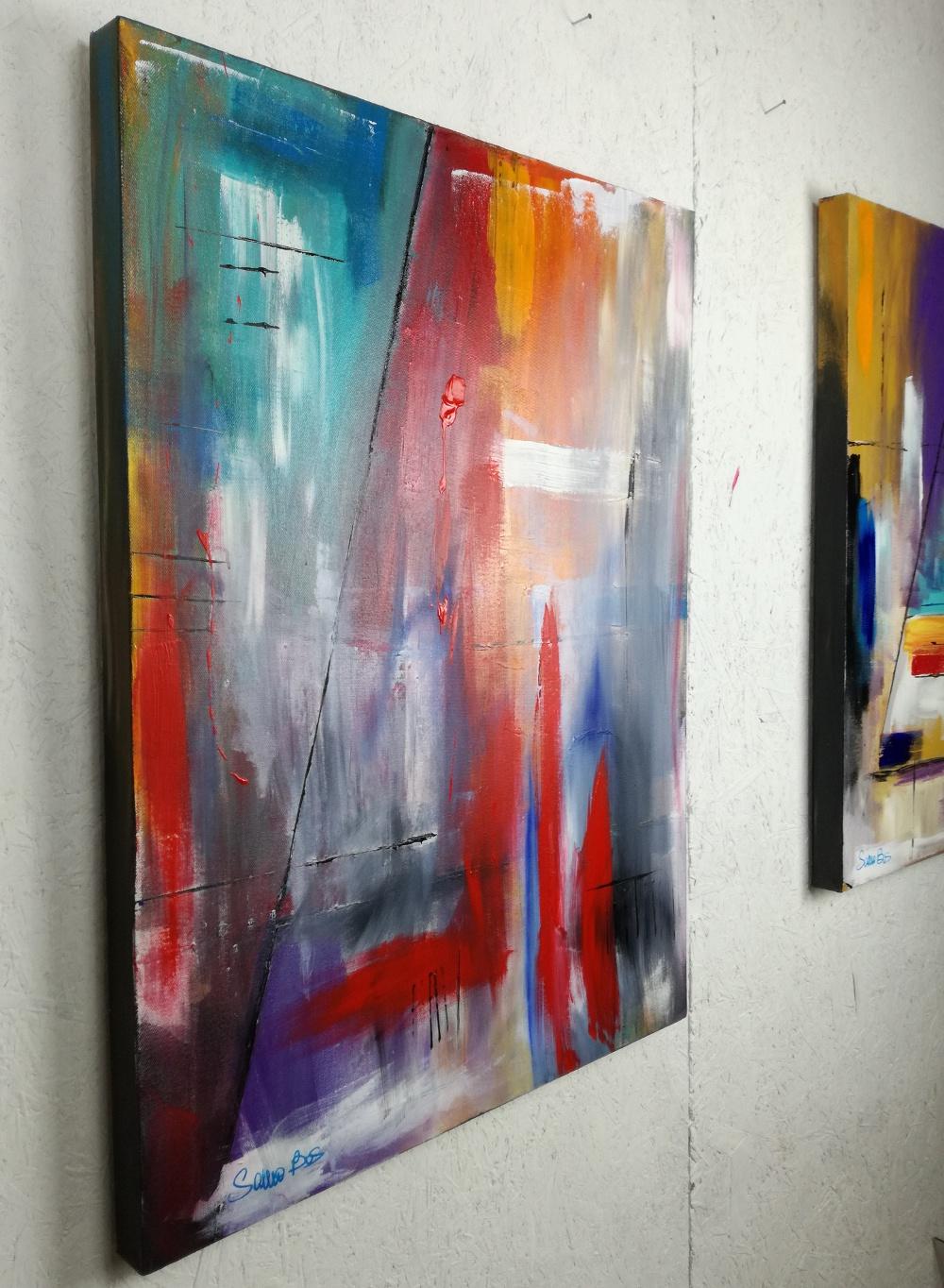 quadri astratti colorati sauro bos