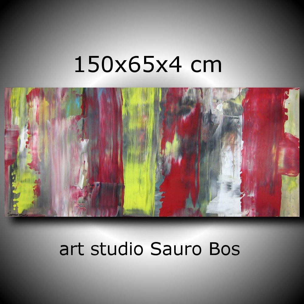 quadri astratti informali 5 - quadri astratti informali  per soggiorno nero rosso