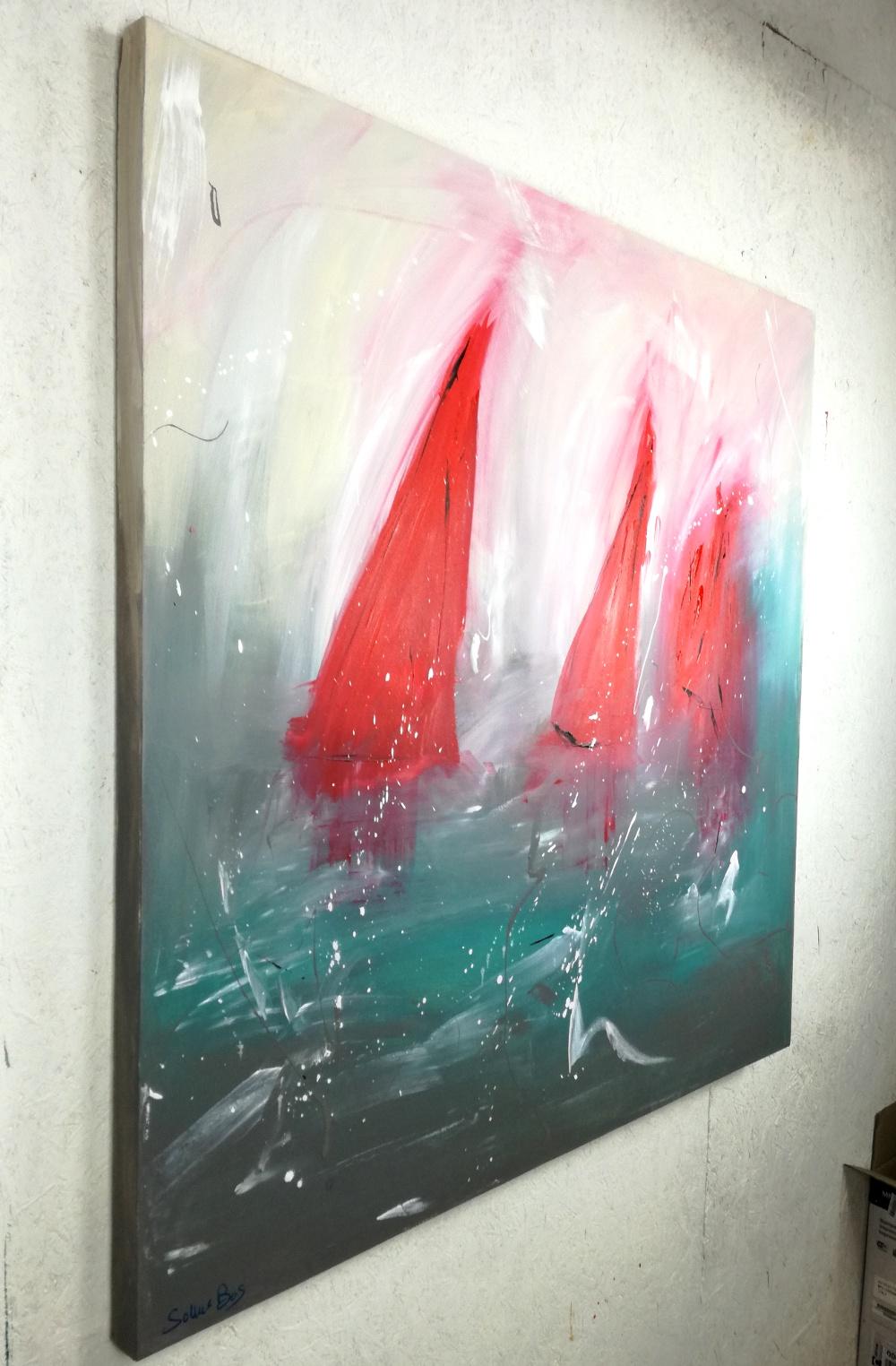Quadri astratti dipinti olio su tela 120x120 sauro bos for Quadri moderni su tela
