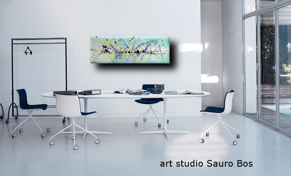 quadri astratti informali per soggiorno | sauro bos