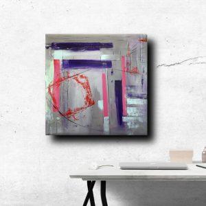 a31 quadro astratto decorativo 300x300 - quadri astratti dipinti a mano 100x100 geometrico