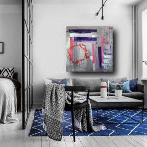 a31bis 300x300 - quadri astratti dipinti a mano  geometrico