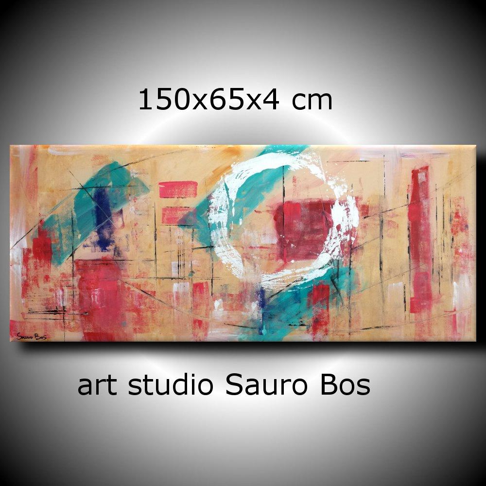 Quadri astratti geometrici per soggiorno 150x65 sauro bos for Quadri per soggiorni moderni