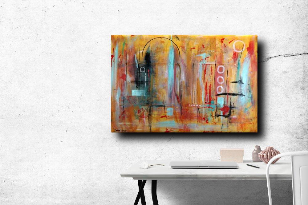 a41 dipinti astratti - quadri astratti  120x80  tela contro tela in rilievo