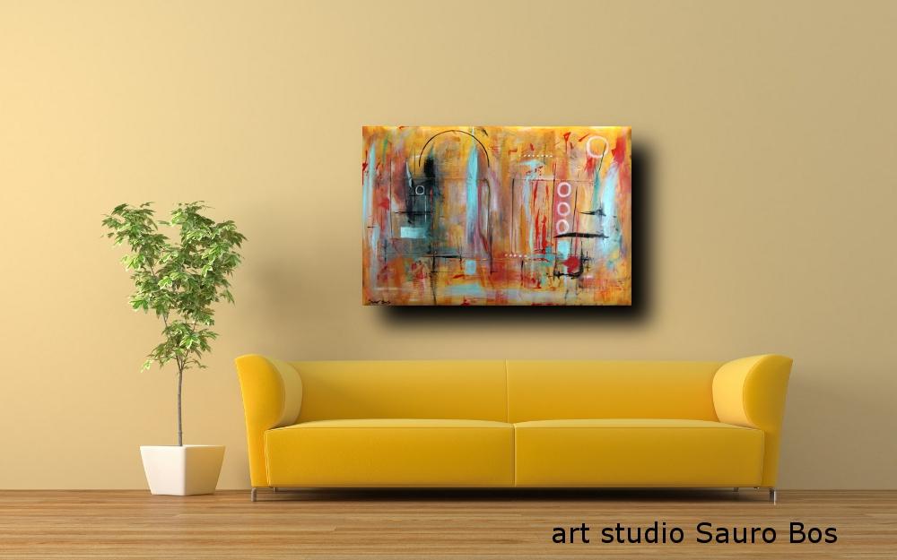 a41 quadri astratti moderni - quadri astratti  120x80  tela contro tela in rilievo