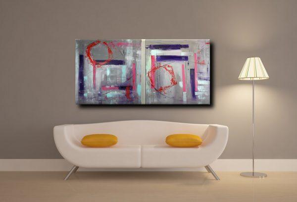 art 362 quadri astartti artfin 600x408 - quadro astratto geometrico due tele 100x100x4 cm