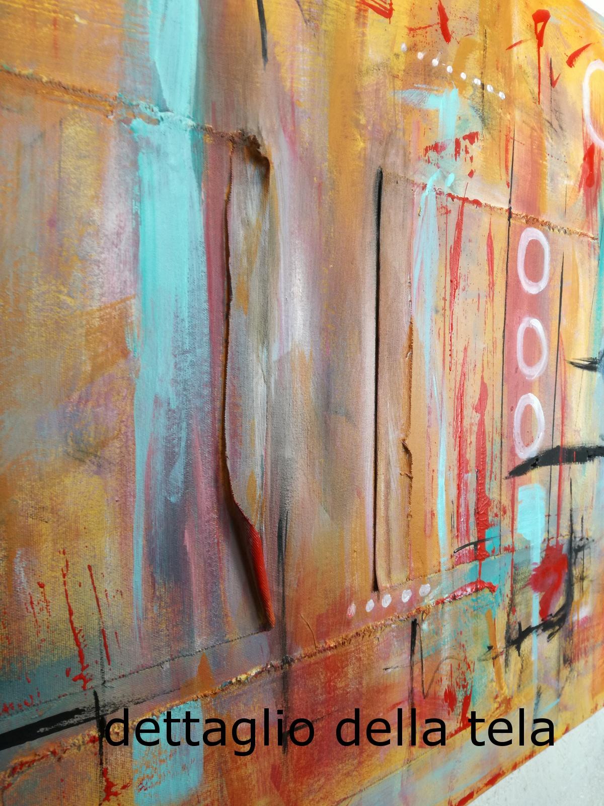 dett tela a41 - quadri astratti  120x80  tela contro tela in rilievo