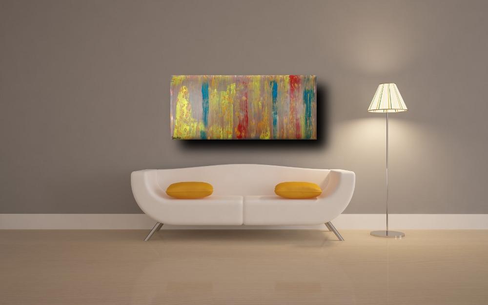 quadri astratti a16 - quadri astratti informali  tinta tortora