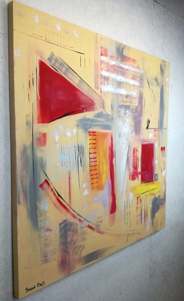 quadri astratti geometricia22 dx.jpg 600x981 - quadri astratti dipinti a mano 120x120 giallo