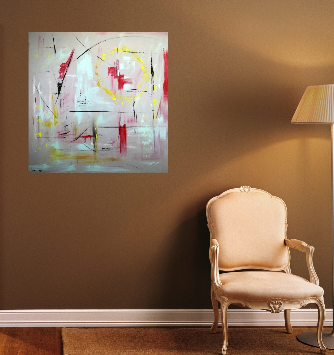 quadri astratti dipinti a mano 120×120 geometrici – sauro bos