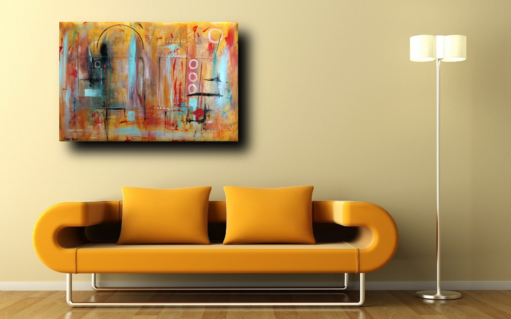 quadri astratti moderni a41 - quadri astratti  120x80  tela contro tela in rilievo
