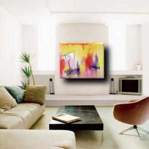 quadri astratti moderni fatti a mano a15 300x300 - quadro astratto quadrato 100x80