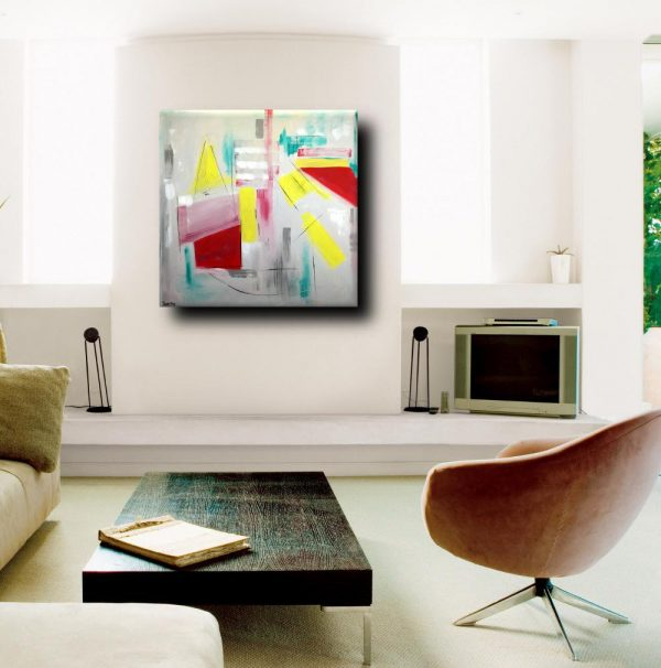 quadri astratti moderni geometrici a24 600x606 - quadri astratti dipinti a mano 120x120 geometrico
