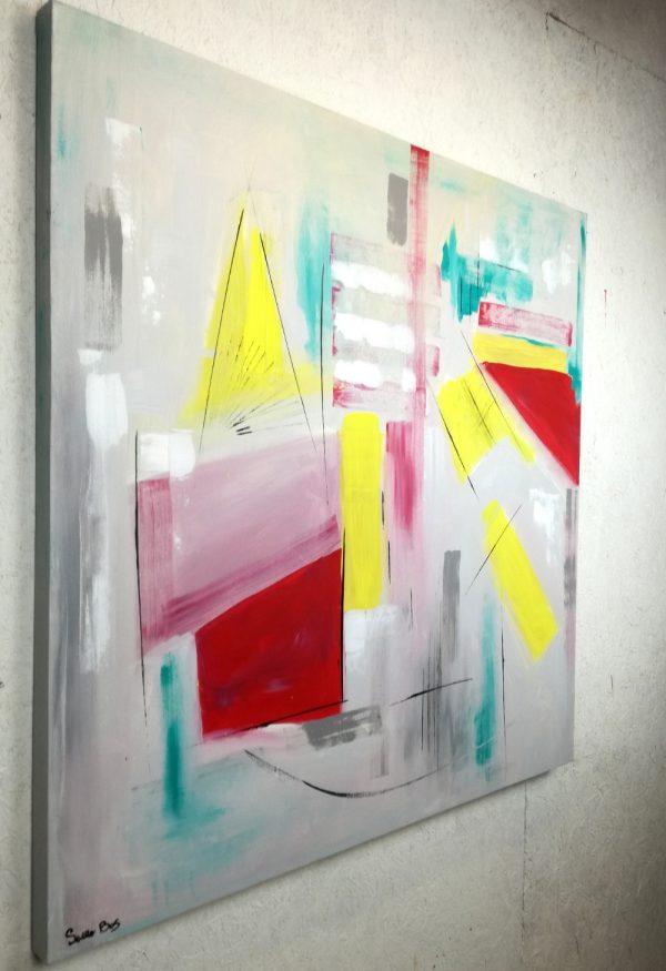 quadri geometrici astratti a24 600x875 - quadri astratti dipinti a mano 120x120 geometrico