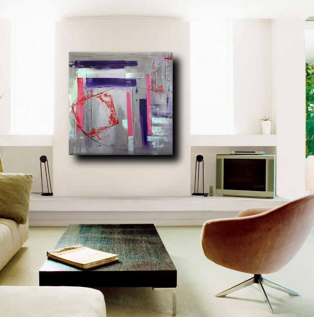sogg quadri astratti a31 - quadri astratti dipinti a mano 100x100 geometrico