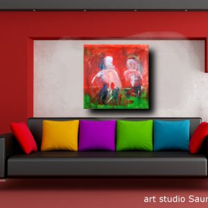 b 70 quadri moderni 300x300 - quadro fatto a mano su tela con cornice argento 120x70