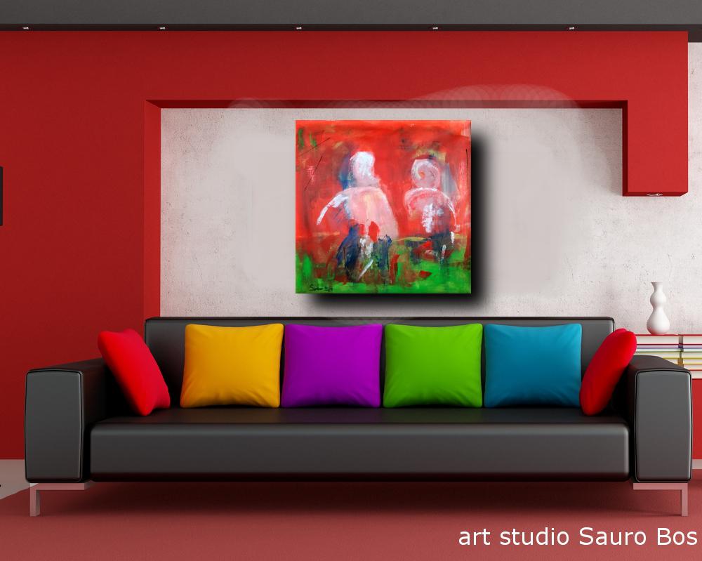 b 70 quadri moderni - quadri astratti colorati 80x80