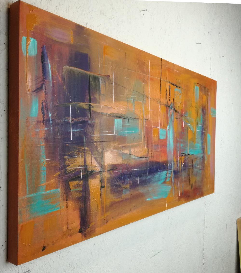quadri astratti 120x60 per arredamento moderno | sauro bos