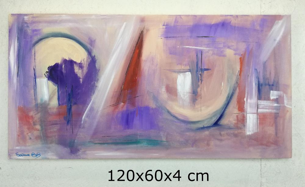 paesaggioastrattob8a - quadri moderni ad olio colorati 120x60 per soggiono