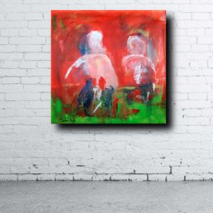 modern red paintings