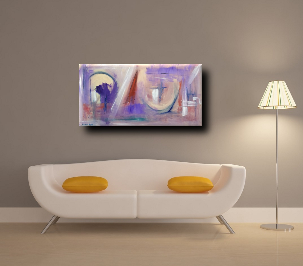 quadri moderni div b8 - quadri moderni ad olio colorati 120x60 per soggiono