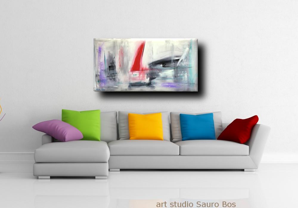 quadri moderni colorati 120x60 per soggiono ed ufficio | sauro bos