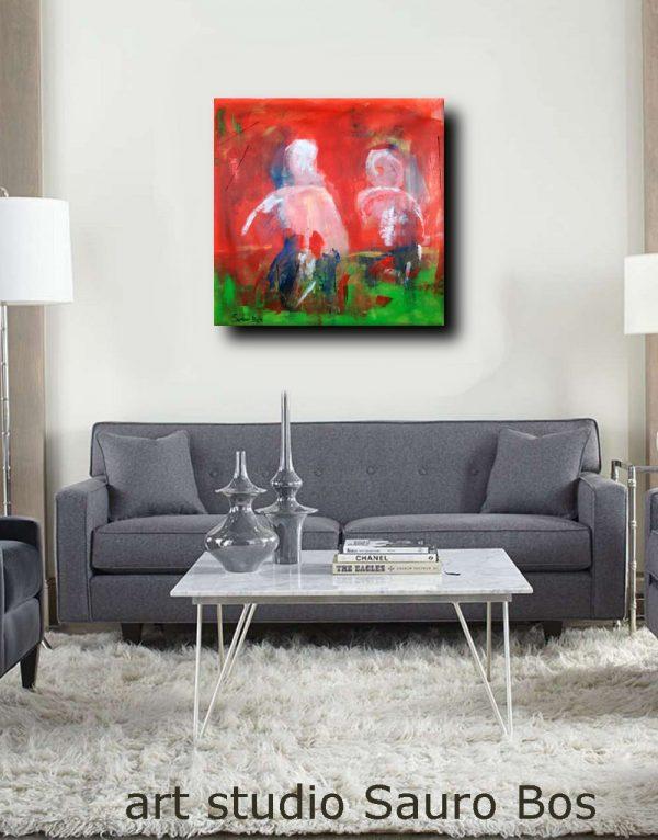 quadri moderni astratti rosso