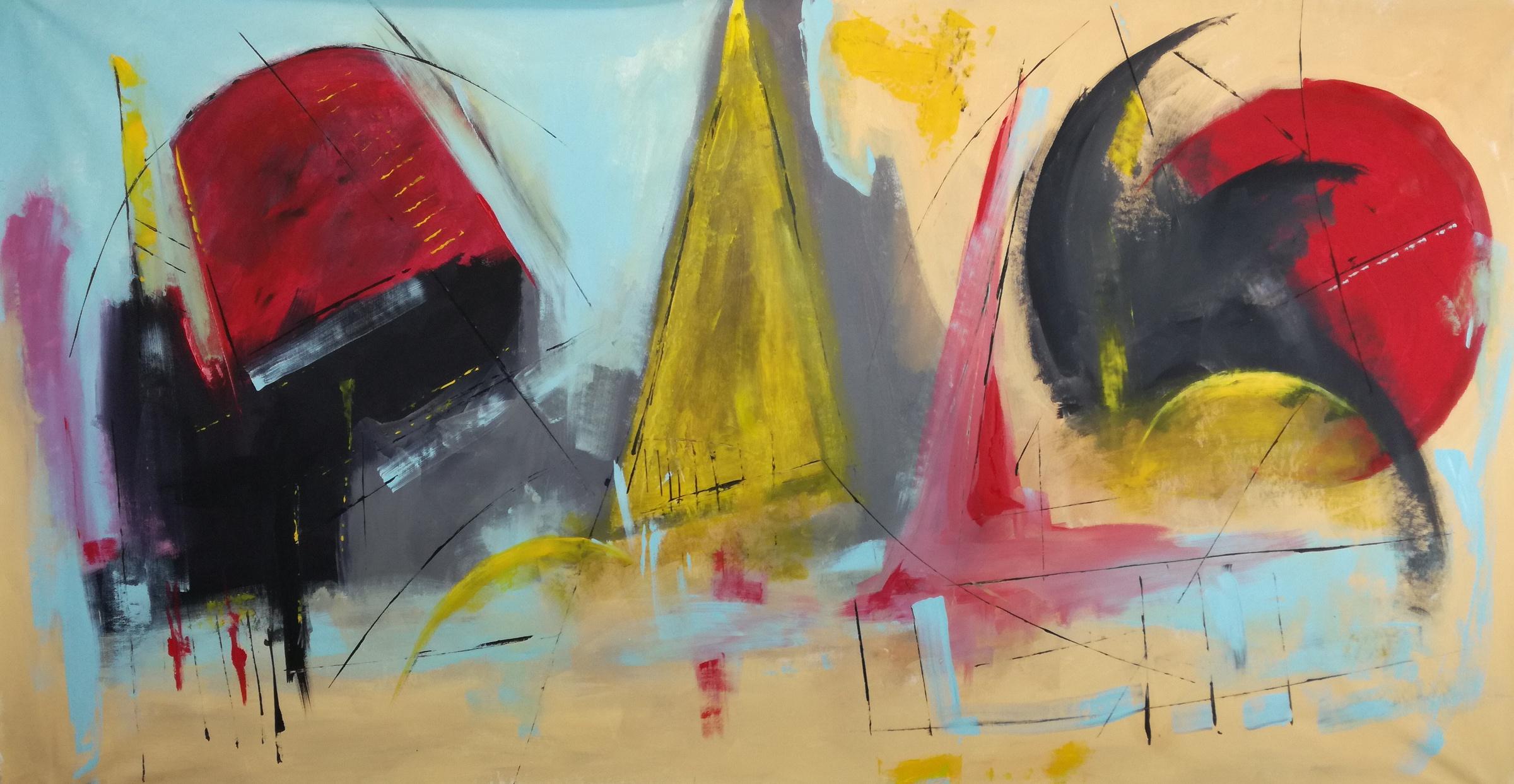 artfinder b32 - dipinti moderni grandi dimensioni 180x90 fatto a mano