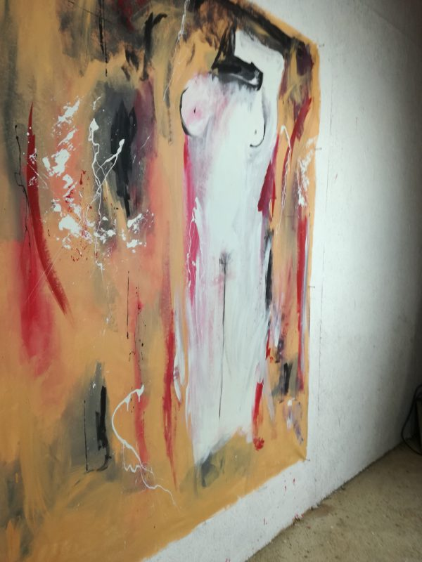 artfinderabstract woman b33 dx 600x800 - quadro moderno colorato per soggiorno 170x130