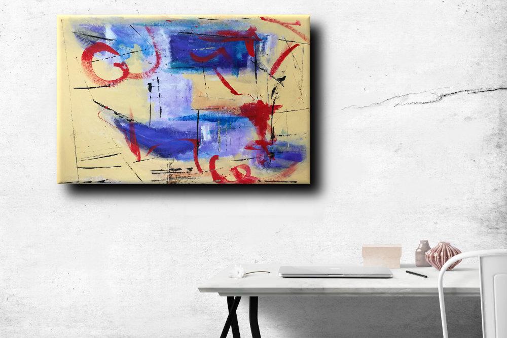 b43 quadri astratti - dipinti astratti fatti a mano 120x80 xxl