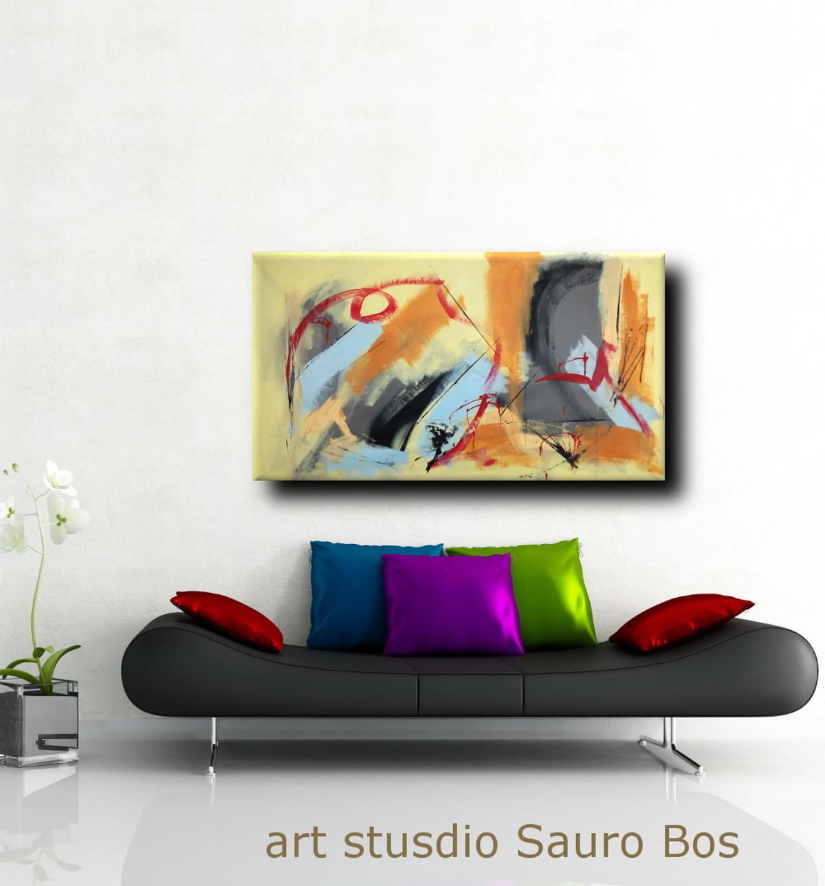 dipinti astratti moderni b40 - quadri astratti fatti a mano 120x60 xxl