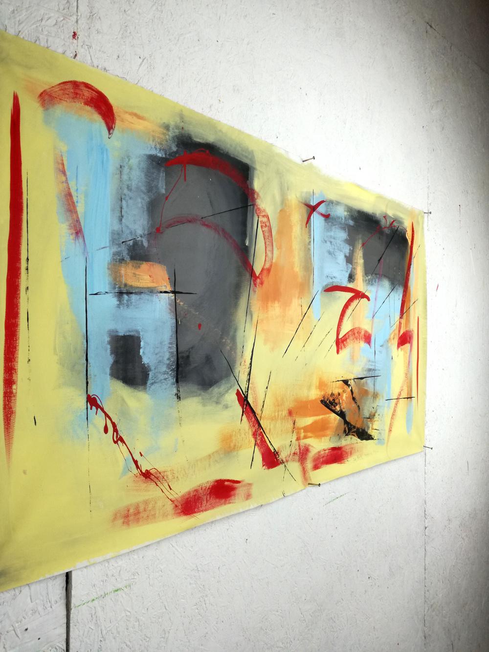 dipinti astratti modernidx b39 - dipinti moderni fatti a mano 120x60