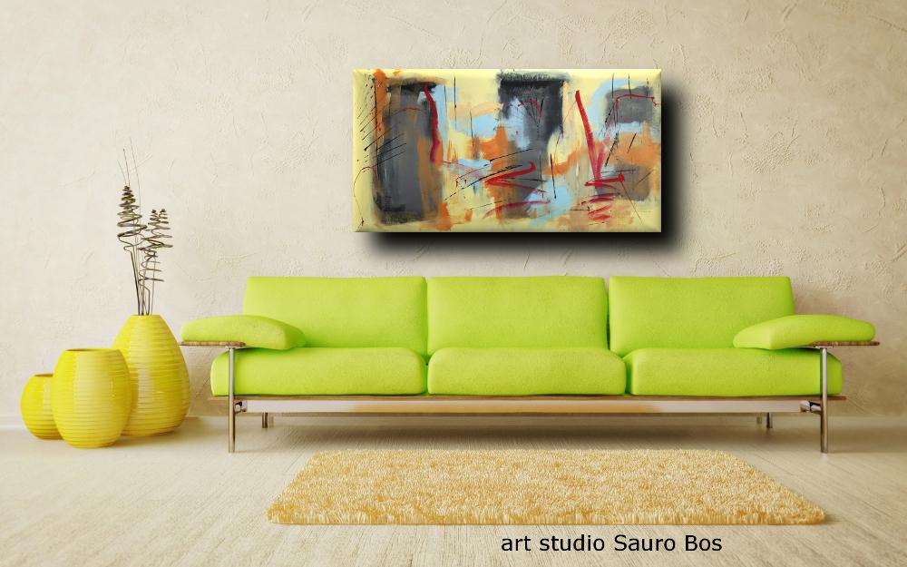 dipinti moderni astratti b41 - quadri moderni fatti a mano 120x60 xxl