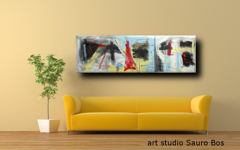 dipinti moderni olio su tela b49 - quadri moderni grandi dimensioni 180x50 astratto