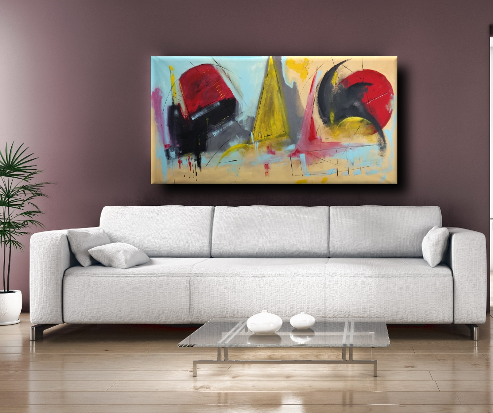 Dipinti moderni grandi dimensioni 180x90 fatto a mano for Dipinti figurativi moderni