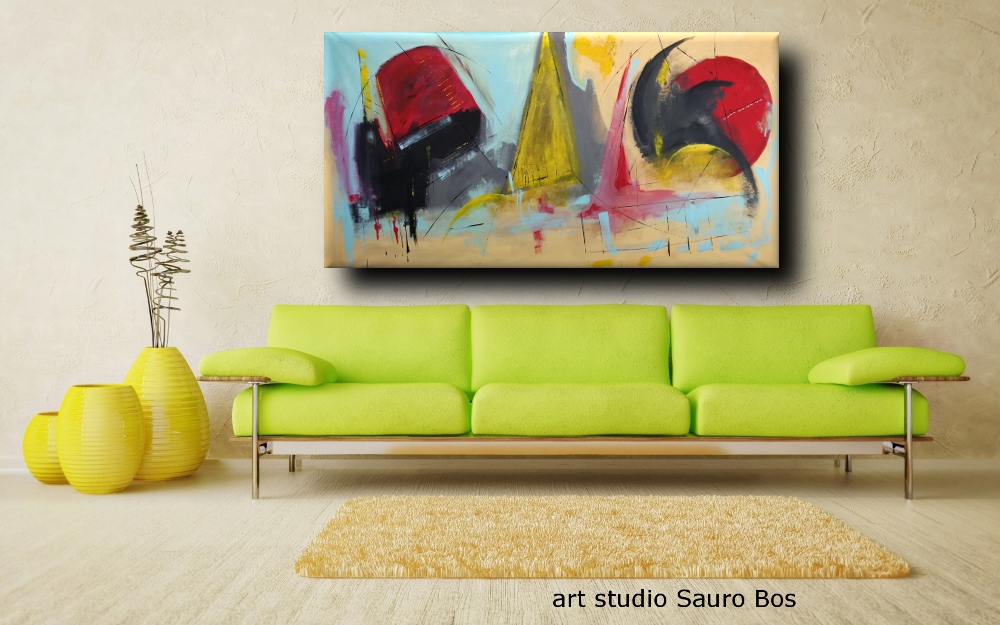 quadri ad olio moderni b32 - dipinti moderni grandi dimensioni 180x90 fatto a mano
