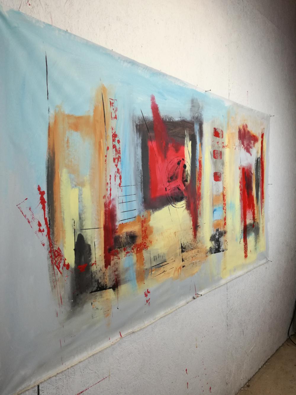 Dipinti moderni grandi dimensioni 180x90 per soggiorno for Quadri arredo salotto