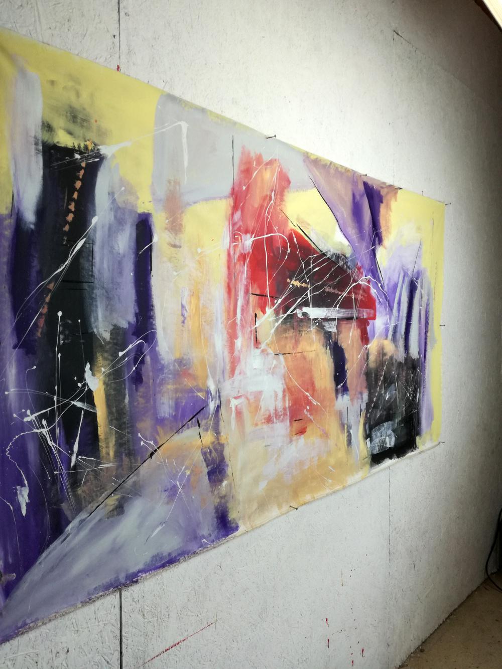 quadri astratti b33dx - dipinti moderni grandi dimensioni 180x90 fatto a mano