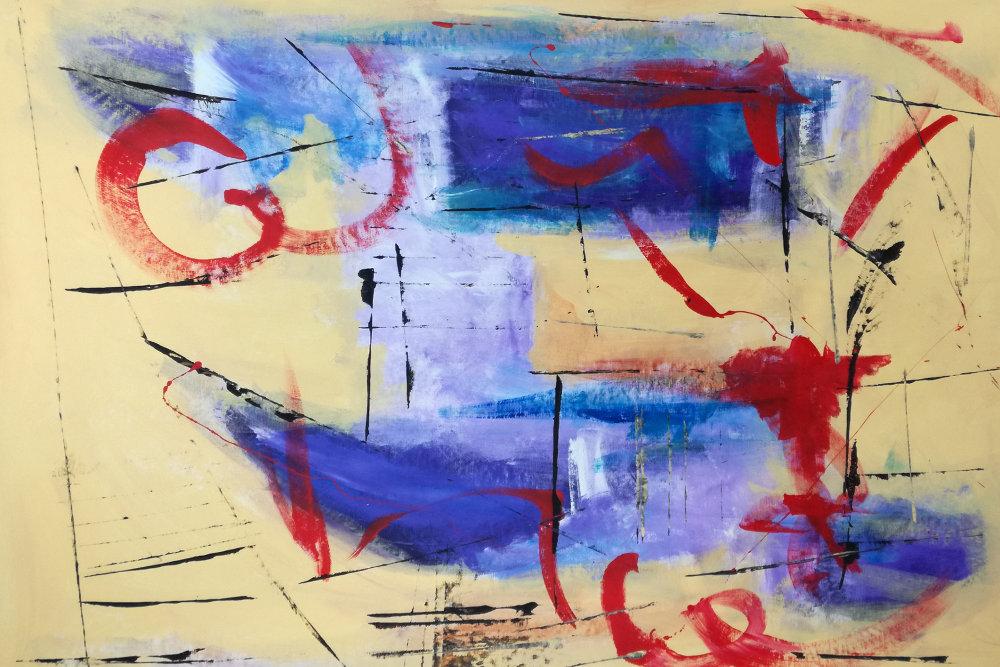 quadri astratti b43 - dipinti astratti fatti a mano 120x80 xxl
