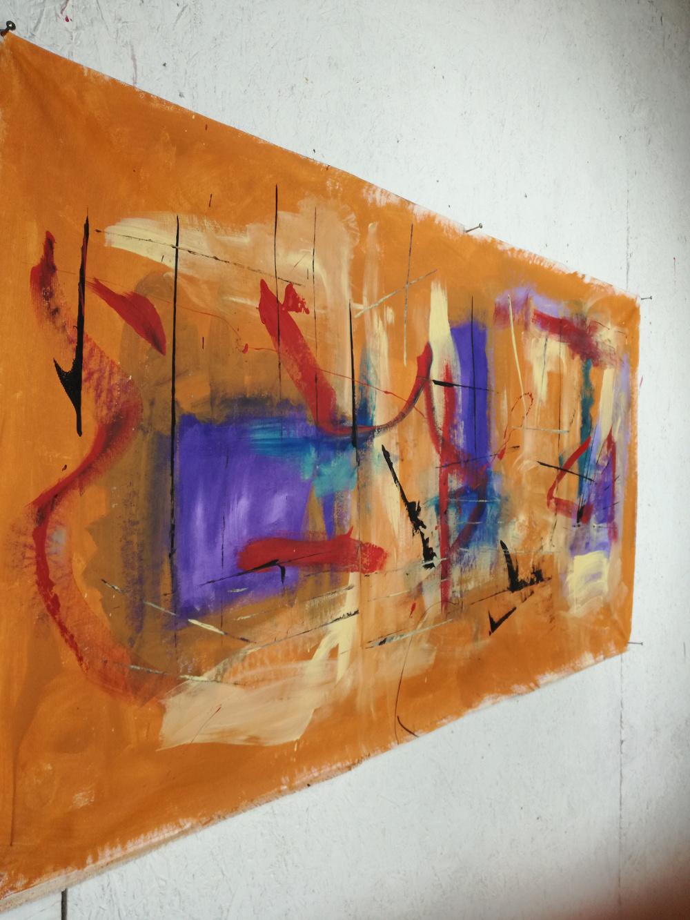 quadri astratti dx b44 - quadri moderni fatti a mano 120x60 xxl