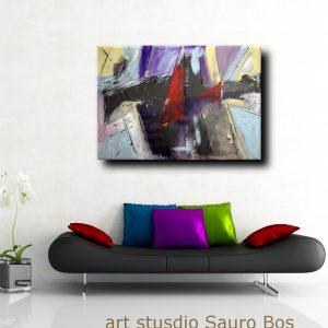 quadri astratti fatti a mano b46 300x300 - quadro fatto a mano su tela con cornice argento 120x70