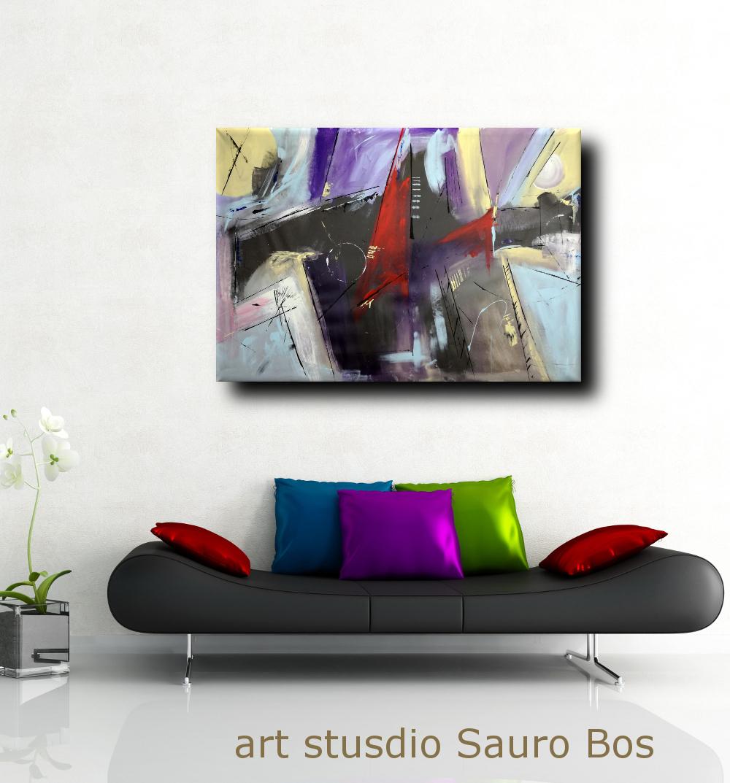 quadri astratti fatti a mano b46 - dipinti astratti fatti a mano 120x80 xxl