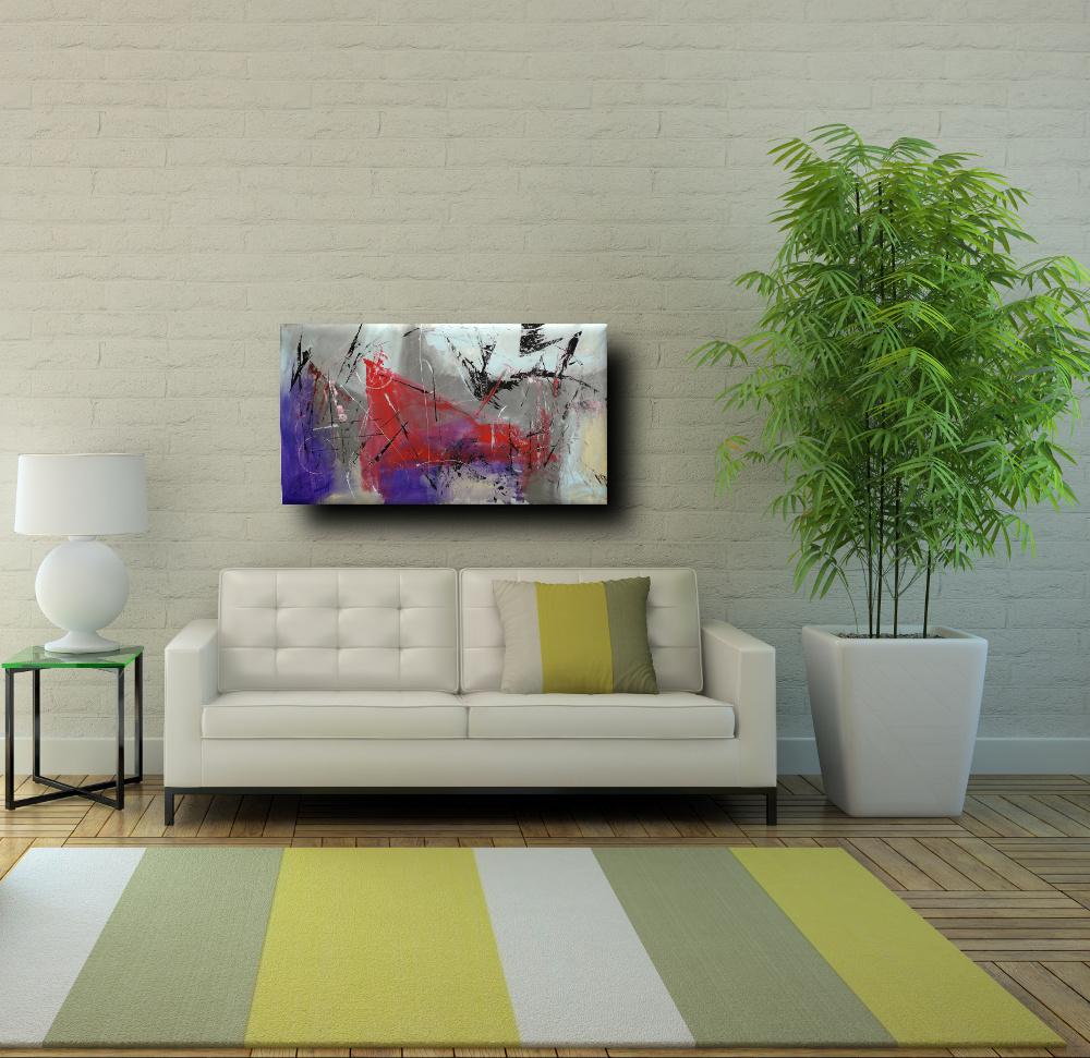 quadri astratti fatti a mano b47 - quadri moderni fatti a mano 120x60 xxl