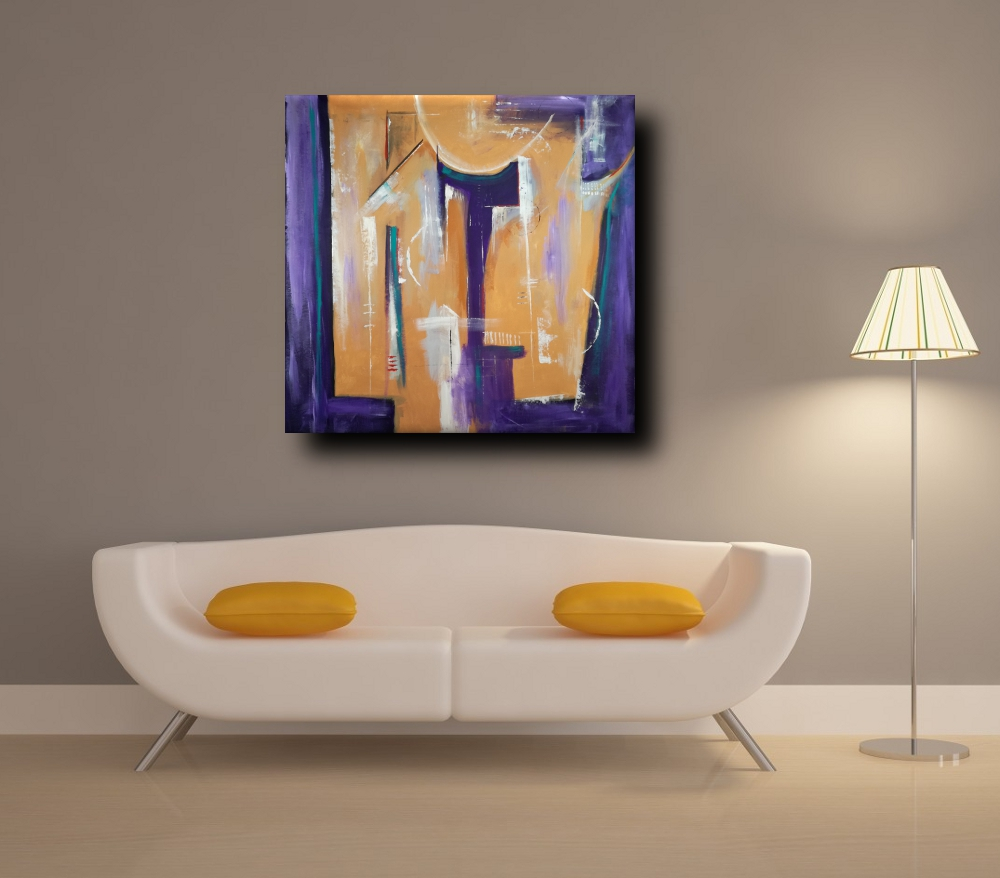 quadri astratti geometrici b23 - quadri moderni geometrici 120x120 olio su tela