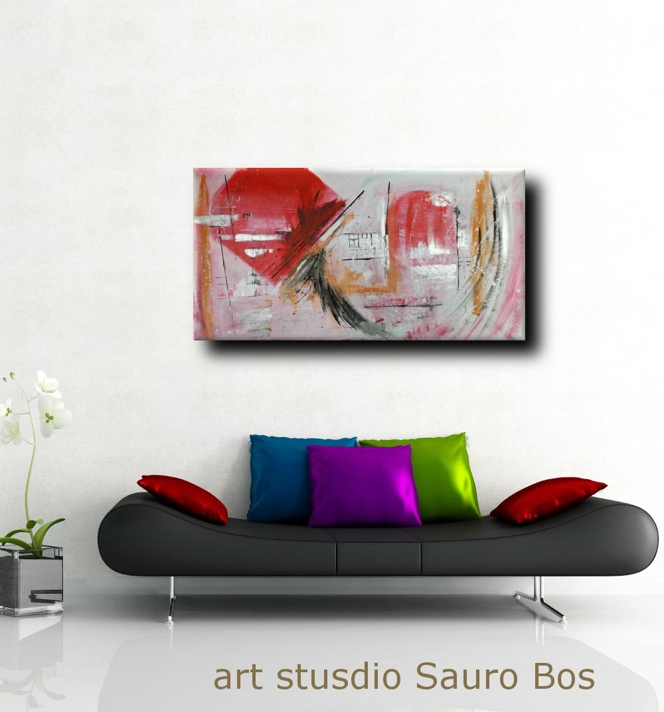 quadri astratti moderni colorati b27 - quadri astratti fatti a mano 120x60