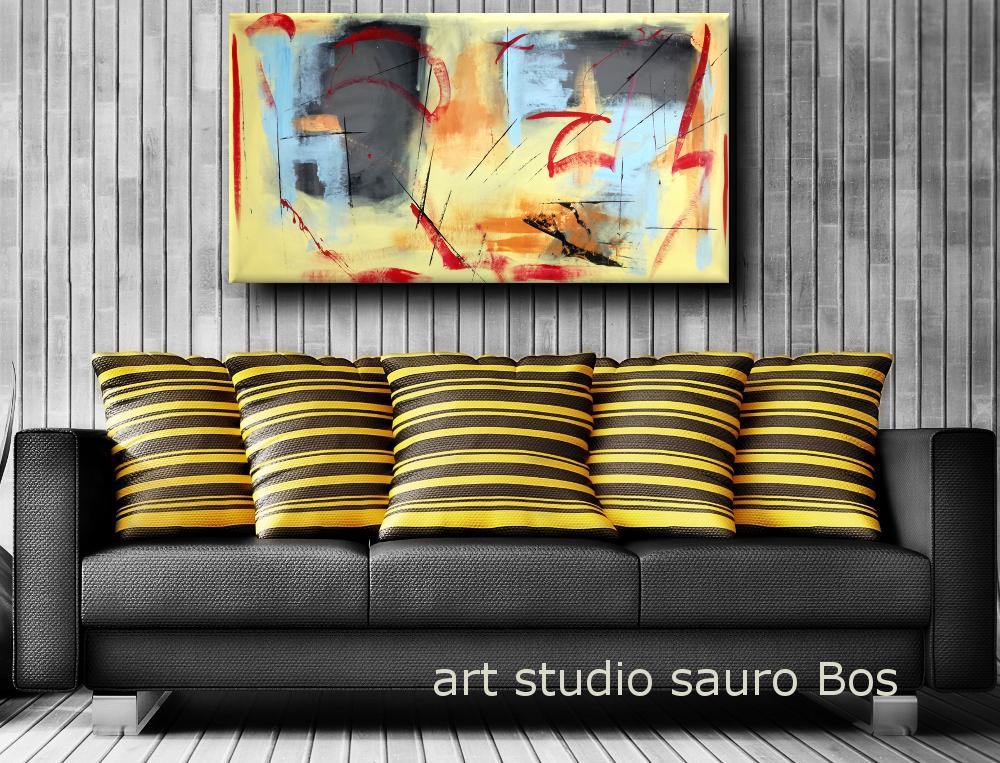 quadri astratti moderni fatti a mano b39 - dipinti moderni fatti a mano 120x60