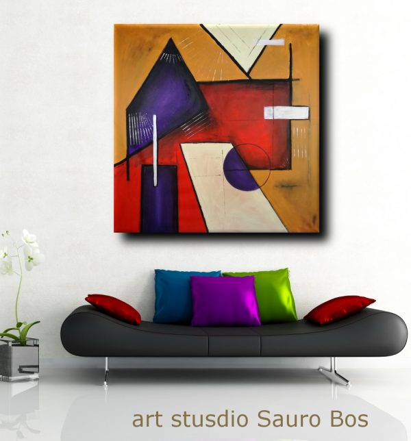 quadri astratti moderni geometrici b22 600x644 - quadri moderni geometrici 120x120