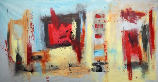 quadri astratti moderni rosso nero b34 600x311 - dipinti moderni grandi dimensioni 180x90 per soggiorno