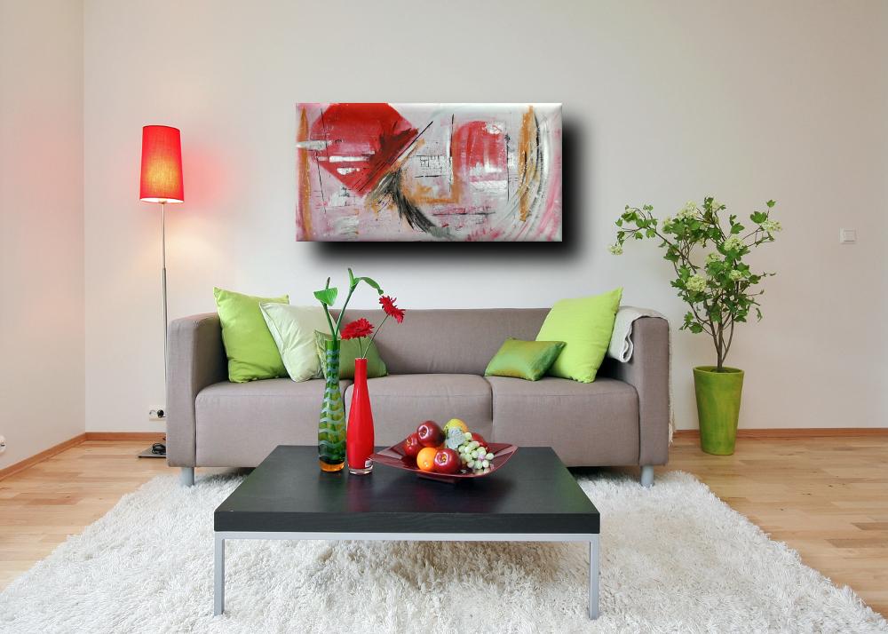 quadri astratti olio su tela moderni b27 - quadri astratti fatti a mano 120x60